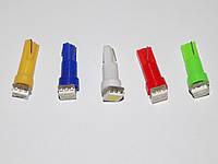 Автомобильная светодиодная лампа для панели приборов 1,2w T5-1SMD-5050 (производство Китай)