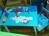 Набор детской мебели E03-2100 (детский столик и стульчики), дерево. КИЕВ, фото 2