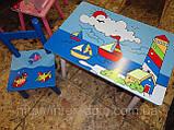 Набор детской мебели E03-2100 (детский столик и стульчики), дерево. КИЕВ, фото 4