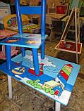 Набор детской мебели E03-2100 (детский столик и стульчики), дерево. КИЕВ, фото 5