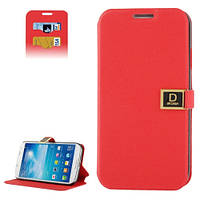 Чехол-книжка Dr. Chen для Samsung Galaxy S4 i9500, красный. PU кожа.