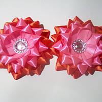 Бантик-звездочка, красно-розовая