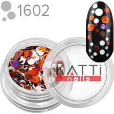 KATTi Блестки в баночке камифубуки 1602 mix dot круглые красные, белые 2г
