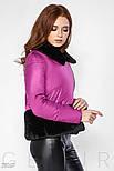 Зимняя теплая куртка розового цвета с мехом, фото 3