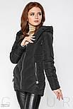 Черная стеганая куртка с капюшоном, фото 3