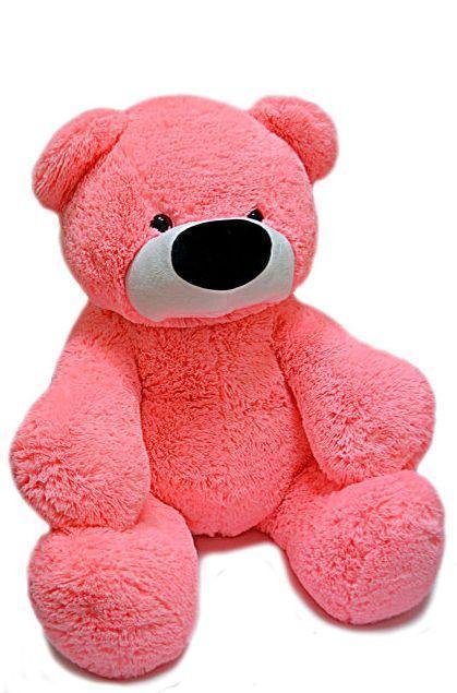 Великий рожевий плюшевий ведмідь Бублик 180см.