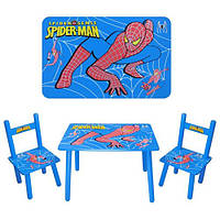 Набор детской мебели Столик + 2 стульчика «Человек-паук» м 0294 КИЕВ