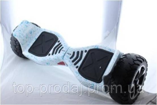 """Гироборд 8.5"""" HM №3 Капли воды на белом фоне, Устойчивый гироскутер, Гироборд с блютузом, Гироскутер мощный"""