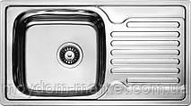 Мийка CRISTAL 7204 прямокутна з полицею, врізна 780x430x180 SATIN