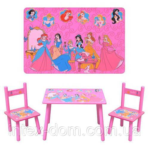 Столик и два стульчика М 1109 «Принцессы», деревянный