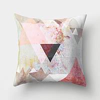 Подушка декоративная Красивые треугольники 45 х 45 см