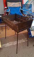 Мангал раскладной , легко складывается, вмещает до 15 шампуров, 30х50 см
