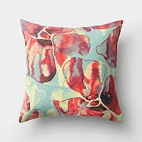 Подушка декоративная для дивана Размытые цветы 45 х 45 см