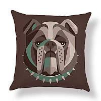 Подушка декоративная для дивана Бульдог 45 х 45 см