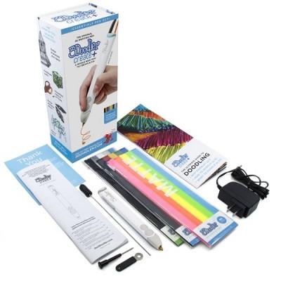3D-ручка 3Doodler Create PLUS  для проф. использования - БЕЛАЯ (75 cтержней, аксессуары)