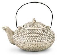 Чайник заварочный Fissman Gray Sand 750мл керамический со стальным ситечком