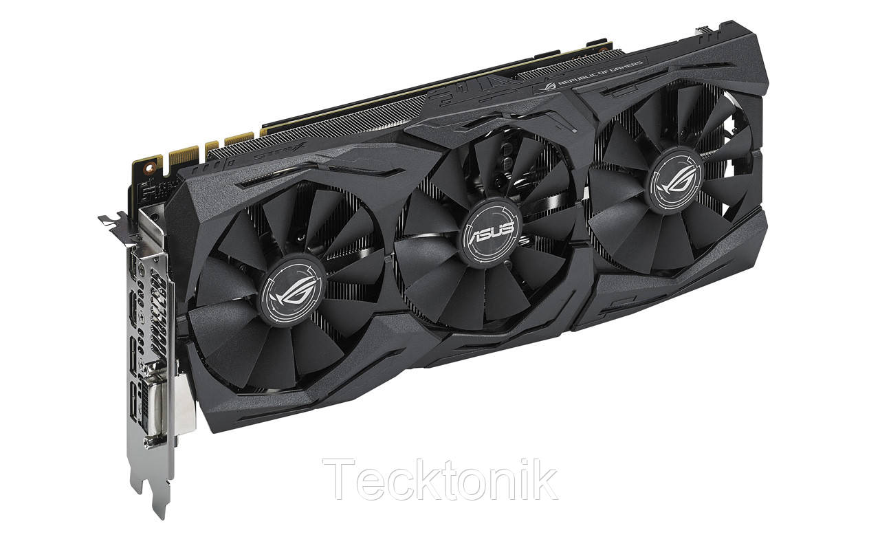 Asus PCI-Ex GeForce GTX 1070 Ti ROG Strix 8GB GDDR5 (256bit) (1607/8008)  (DVI/2 x HDMI/ 2 x DisplayPort) (ROG-STRIX-GTX1070TI-A8G-GAMING)