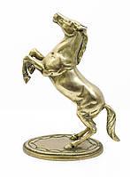 Старая скульптура, конь, лошадь, латунь, Англия, 25 см, фото 1