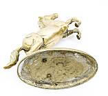 Старая скульптура, конь, лошадь, латунь, Англия, 25 см, фото 6