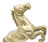 Старая скульптура, конь, лошадь, латунь, Англия, 25 см, фото 9
