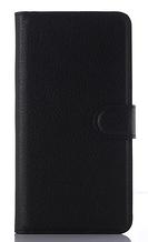 Кожаный чехол-книжка для Motorola Moto G4 /G4 Plus черный