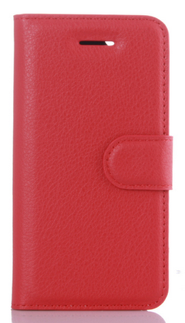 Кожаный чехол-книжка для Meizu M5S красный, фото 2