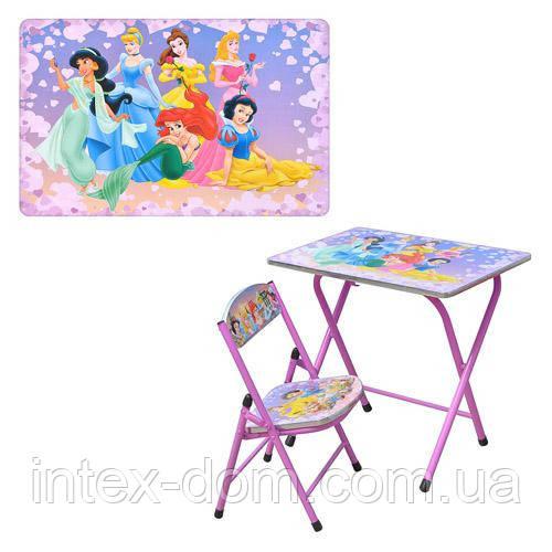 Детская парта DT 19-4 – столик со стульчиком Принцессы