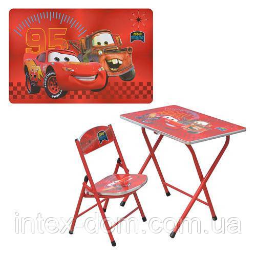 Детская парта DT 19-2 – столик со стульчиком Тачки