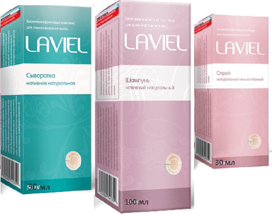 Комплекс LAVIEL - серия (шампунь, спрей, сыворотка) для ламинирования и кератирования волос (Лавиель)