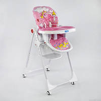 """Детский стульчик для кормления JOY К-73480  """"ПОНИ"""" цвет розовый"""
