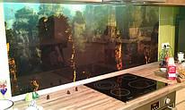 Фартук из стекла для кухни с фотоизображением. Фото на стекле нанесено с обратной стороны и не подвержено влиянию внешних загрязнений. Стекло каленое 6мм.