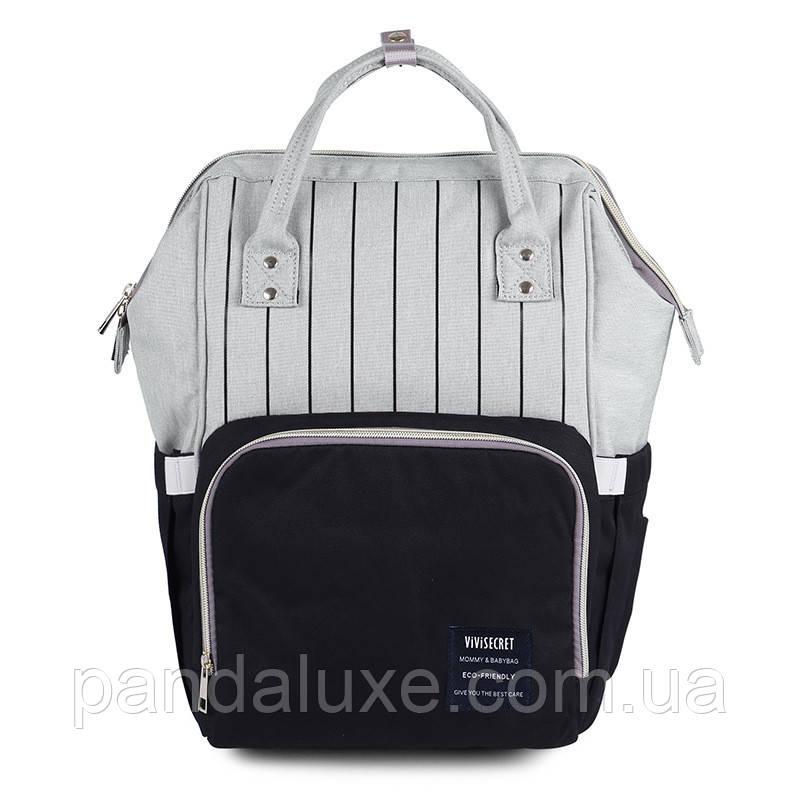Женский стильный рюкзак сумка Полосы ViViSECRET, фото 2