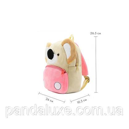 Рюкзак детский велюровый Коала, фото 2