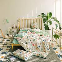 Комплект постельного белья Лисички в траве (двуспальный-евро)