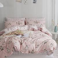 Комплект постельного белья Лесные животные (двуспальный-евро)