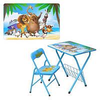 Детская парта DT 20-1 – столик со стульчиком Мадагаскар