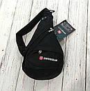 Сумка-рюкзак на одно плечо Swissgear Bag Wenger. Черная, фото 5