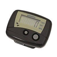 Электронный измеритель шагов, педометр, шагомер, перевод данных в затраченные калории, километры, 1*LR44