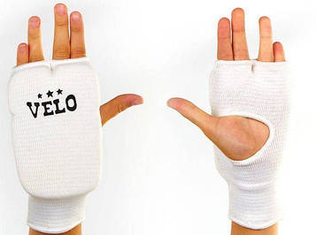 Накладки (рукавички) для карате VELO( р-р S-L, білий)