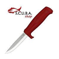 Нож Morakniv Craftline Q 511, углеродистая сталь, пластиковая рукоять красного цвета