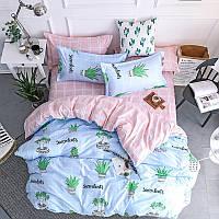 Комплект постельного белья Суккулент (двуспальный-евро)