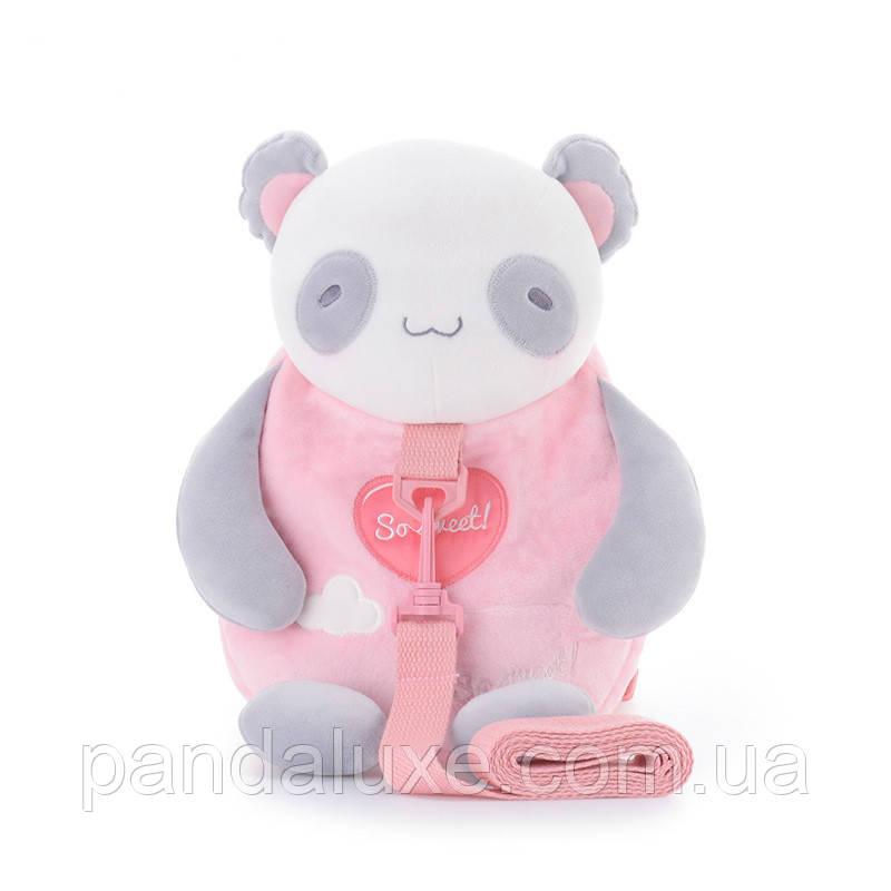 Рюкзак детский велюровый Панда, фото 2