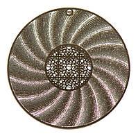 Металл. пластина Круг ажур  диам. 5,3  см (2 шт)