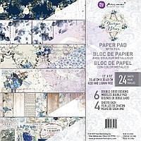 Набір двостороннього паперу - Georgia Blues - Prima Marketing - 30x30  Ціна за 1.4 набору!!!