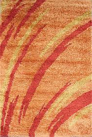 """Ворсистые лохматые ковры шагги """"Салют"""" 6061 персиковый"""