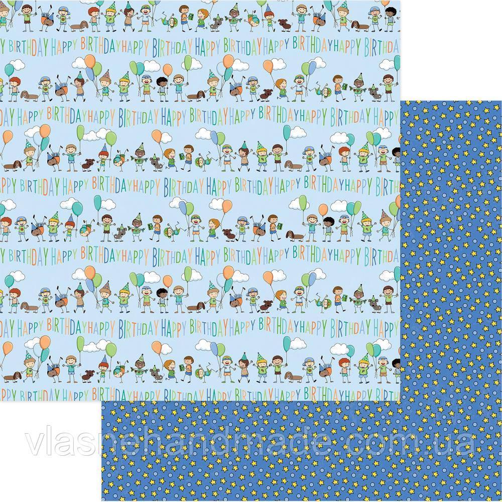 Папір двосторонній - Birthday Boy - Birthday Boy Wishes - Photo Play - 30x30
