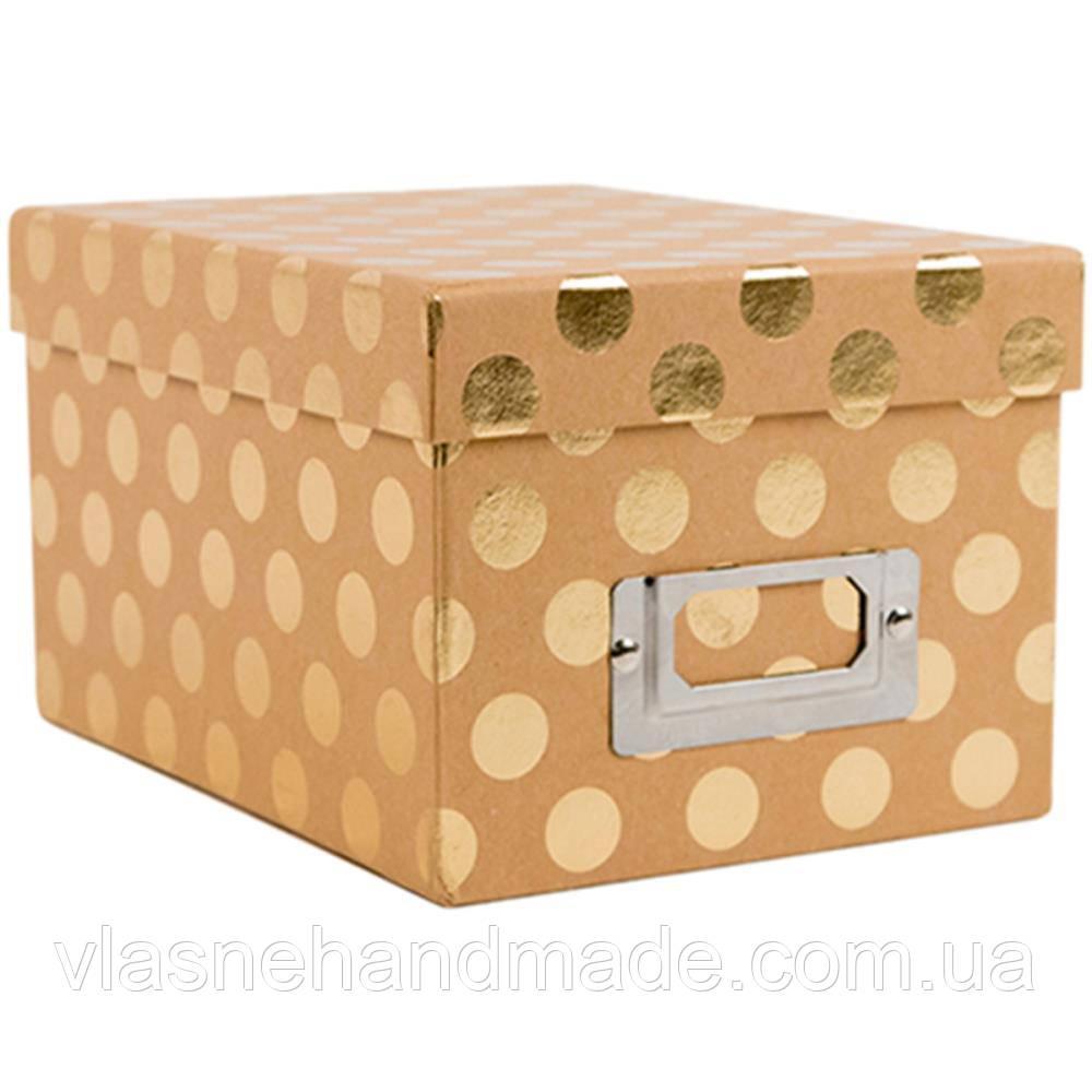 Коробка - Kraft With Gold Foil - DCWV