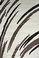 """Ворсистые лохматые ковры шагги """"Салют"""" 6061 кремовый"""
