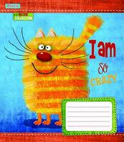 Зошит шкільний 1Вересня 12 аркушів лінія Crazy kitten 25шт/уп
