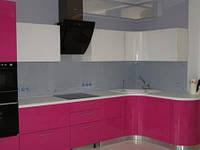 Рабочая стенка кухни из стекла (скинали)  под ключ, фото 1